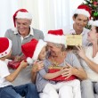 Happy family at Christmas time - Stock fotografie