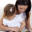 Mother and daughter reading a book — Stock Photo #10299783