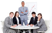 Charming manager giving a presentation — Stock Photo