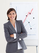 Confident businesswoman with folded arms — Stock Photo