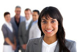 Focus on an ethnic young manager — Stock Photo