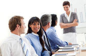 Business showing ethnic diversity in a meeting — Stock Photo