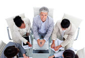 Positive international business in a meeting — Stock Photo