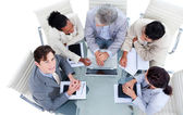 Charismatic international business in a meeting — Stock Photo