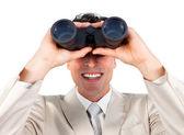 Visionary businessman predicting future success — Stock Photo