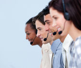 Cheerful customer service representatives — Stock Photo