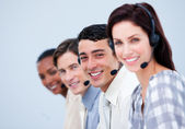 Confident customer service representatives — Stock Photo