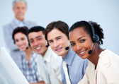 Charming customer service representatives — Stock Photo