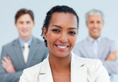 Charismatic afro-american businesswoman standing — Stock Photo