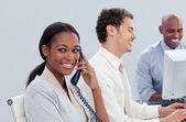 Successful business group working hard in the office — Stock Photo
