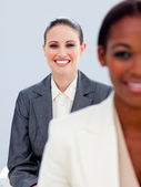 Portrait of two ambitious businesswomen — Stock Photo