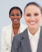 Portrait of two smiling businesswomen — Stock Photo