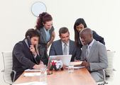 Group of working in a business meeting — Stock Photo
