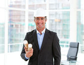 Portrait of an elegant male architect — Stock Photo
