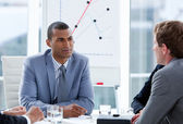 Ambitious businessmen having a brainstorming — Stock Photo