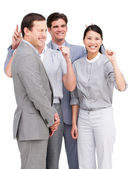 Lively business team having fun together — Stock Photo