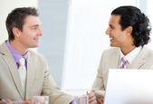 Assertive businessmen interacting — Stock Photo