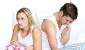 žena přestává bavit se svým manželem — Stock fotografie