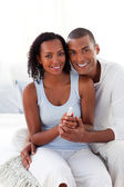Smiling Afro-american couple finding out results of a pregnancy — Stock Photo