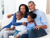 Portrait of a happy Afro-american family — Stock Photo