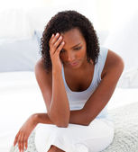 Portrait of an upset Afro-american woman — Stock Photo