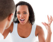Close-up of a Young couple having an argument — Stock Photo