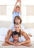 Jolly family having fun — Stock Photo