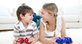 Close-up of children playing video games — Stock Photo