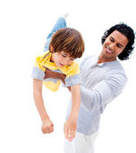 Cheerful father having fun with his son — Stock Photo
