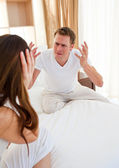 Angry couple having an argument — Stock Photo