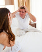 Resentful couple having an argument — Stock Photo