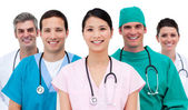 Multi-etnic medical team — Stock Photo