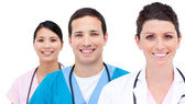 Portrait of medicam team — Stock Photo
