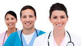 Close-up of medicam team — Stock Photo
