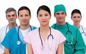 Portrait of an assertive medical team — Stock Photo