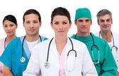 Portrait d'une jeune équipe médicale — Photo