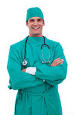Portrait of a charismatic surgeon — Stock Photo