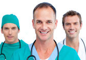 Presentation of a men's medical team — Stock Photo