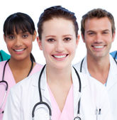 Portrait of a united medical team — Stock Photo