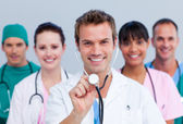 Portrait of a cheerful medical team — Stock Photo