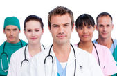 Portrait of a concentrated medical team — Stockfoto