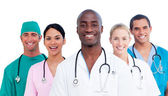 Portrait of positive medical team — Stock Photo