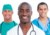 Portrait of three male doctors — Stock Photo