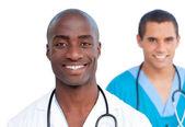 Portrait of handsome male doctors — Stock Photo