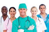 Portrait of successful medical team — Stock Photo