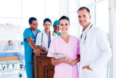 Portrait of a diverse medical team at work — Stock Photo