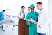 Portrait of an ambitious medical team at work — Stock Photo