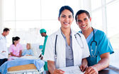 Portrait of an international medical team at work — Stock Photo