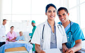 Portrait of a united medical team at work — Stock Photo