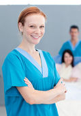 Portrait of a female doctor smiling — Stock Photo